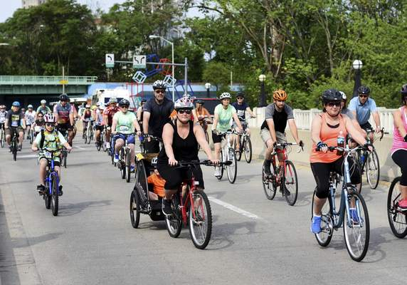 Katie Fyfe   The Journal Gazette Fort4Fitness holds it's 8th Annual Spring Cycle event in Downtown Fort Wayne on Saturday, June 1st, 2019.