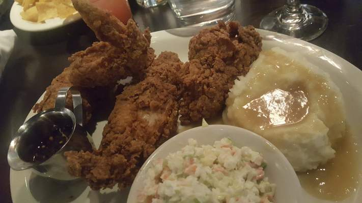 The Southern Fried Chicken from Conner's Kitchen + Bar in the Courtyard by Marriott downtown.