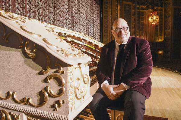 Photos by Michelle Davies   The Journal Gazette Cletus Goens takes any opportunity he can to play the Grande Page Pipe Organ at Embassy Theatre.