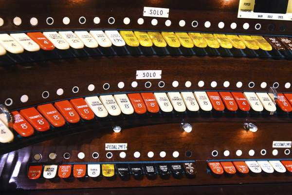 """Goens says keys of the Grande Page Pipe Organ allow him to create """"different colors"""" of notes."""