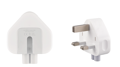 Three-prong AC wall plug adapter replacement.