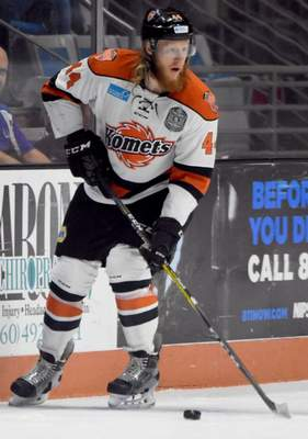 Rachel Von | The Journal Gazette: Cody Sol has signed to play next season in Slovakia after five years with the Komets.