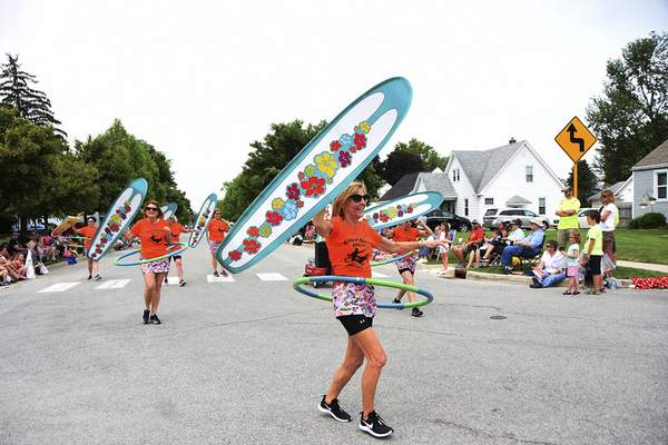 Katie Fyfe | The Journal Gazette  The Canal Days Parade is held in New Haven on Saturday.