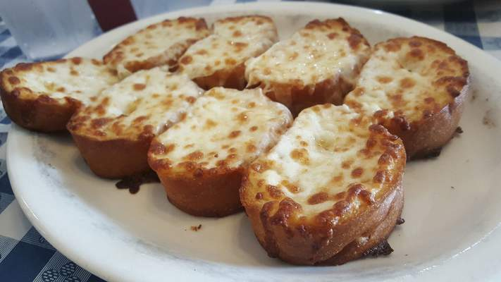 A large order of garlic cheese bread from Oley's Pizza at Coliseum Boulevard and Lake Avenue.