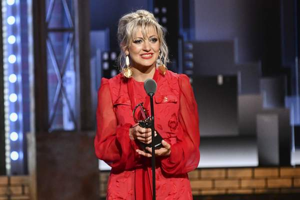 Anais Mitchell accepts the award for best original score for