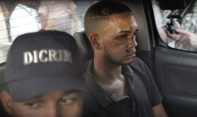 Associated Press Eddy Vladimir Féliz Garcia, in custody in connection with the shooting of former Boston Red Sox slugger David Ortiz, is transferred Tuesday by police to court in Santo Domingo, Dominican Republic.