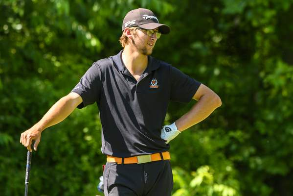 Warsaw High School senior Chase Byron waits to tee off during the final round of the 2019 IHSAA Boy's Golf State Championships, Wednesday, June 12, 2019, at Prairie View Golf Club in Carmel, Ind. (Doug McSchooler/for Journal-Gazette)