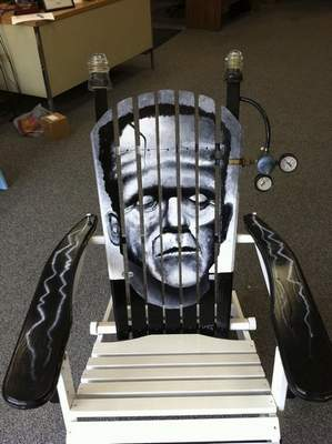 Courtesy Frankenstein's monster is the theme of this chair in Kendallville.