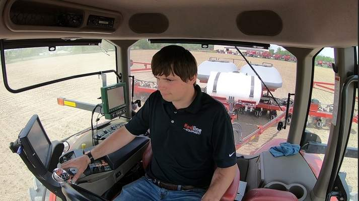 Calvin Knotts, precision farming specialist at Redline,  uses precision farming technology to take advantage of optimal planting techniques.