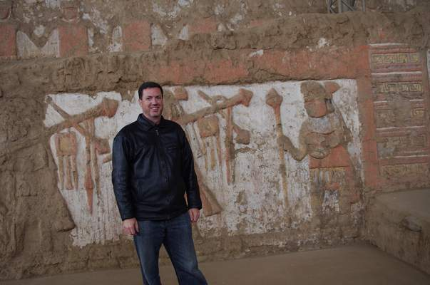 Courtesy Richard Sutter, a Purdue University Fort Wayne professor, standsat the Moche site (AD 200-800) in northern Peru. Sutter will use a stipend from the National Endowment for the Humanities to finish his book on the Moche of Peru.