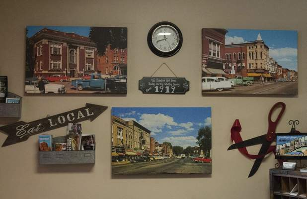 Terri Richardson  The Journal Gazette  The Whitley County Chamber of Commerce and Visitors Center offers visitors a warm, welcoming feeling, says Jennifer Romano, executive director.