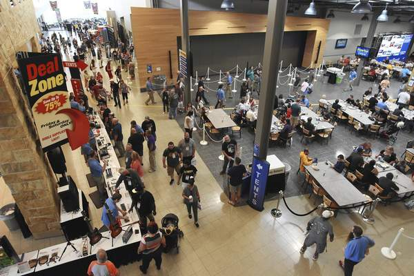 File  Sweetwater Sound has put Fort Wayne on the map with its international sales of instruments and gear. Sweetwater's annual GearFest brings hundreds to its campus.