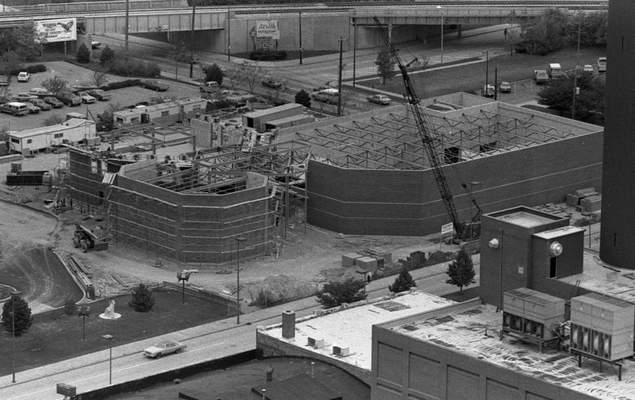Nov. 12, 1982: An overhead view of the construction of the Fort Wayne Museum of Art, which moved to the location on Main Street in 1984. (Journal Gazette file)