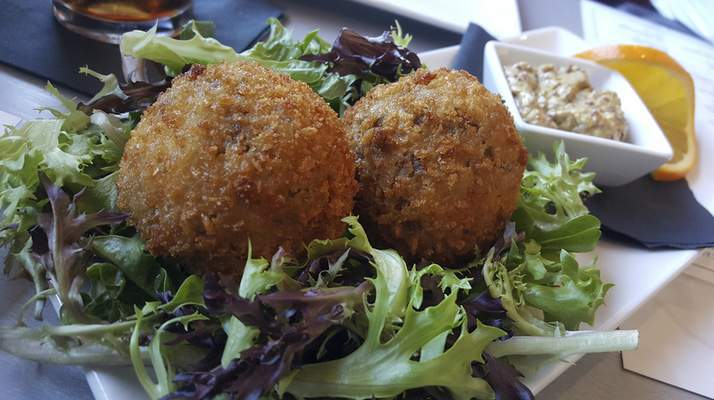 Scotch Eggs from The Pub at 1802 on Spy Run.