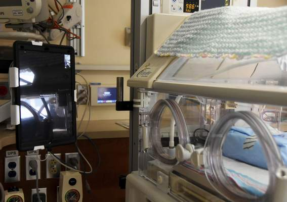 Katie Fyfe   The Journal Gazette Parkview Regional Medical Center launched a program May 1 that allows mothers to interact with their babies in the newborn intensive care unit.