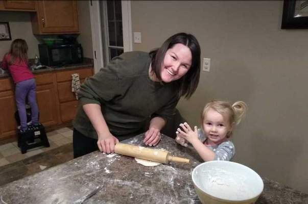 Courtesy  Shelly Meredith of Early Childhood Alliance has been using the Vroom app with her 2-year-old daughter, Lucy.