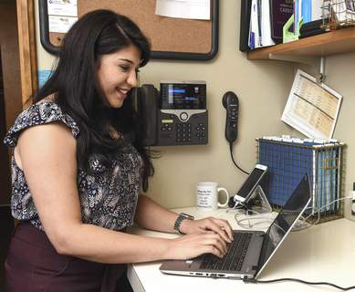 Michelle Davies | The Journal Gazette Dr. Kanika Jaggi, family practice physician at Anthony Medical Center, appreciates Lutheran's electronic records.