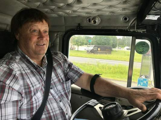 """Button says he's driven a semi about 4 million miles since he began trucking in 1976, and has never caused an accident. Safety is the primary reason for """"hours of service"""" rules."""