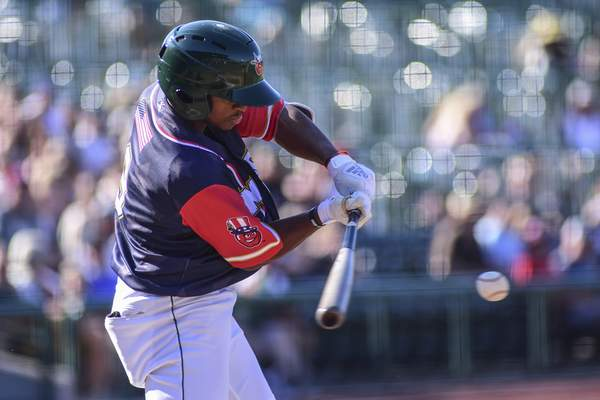 Mike Moore | The Journal Gazette  TinCaps second baseman Xavier Edwards went 0 for 3 with a walk in Fort Wayne's 4-1 loss to Lake County on Thursday.