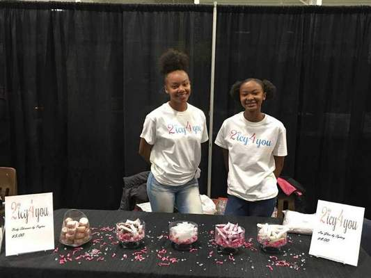 Sydney Gorman, 13, and Payton Gorman, 17, will participate in the Junior Achievement Entrepreneur Marketplace in July. Their business, 2 Icy 4 You, sells handmade lip gloss and body glitter.