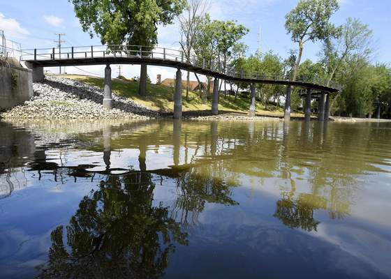 Photos by Rachel Von Stroup | The Journal Gazette The north side of Promenade Park, including the Parkview Tree Canopy Trail, can most fully be appreciated from the waters of the St. Marys River.
