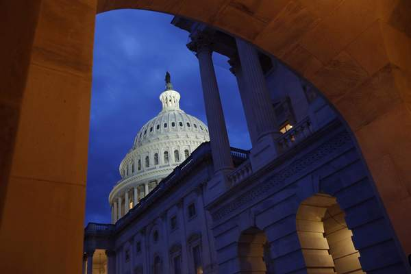 FILE - This June 12, 2019, file photo shows the U.S. Capitol dome on Capitol Hill in Washington. (AP Photo/Patrick Semansky, File)