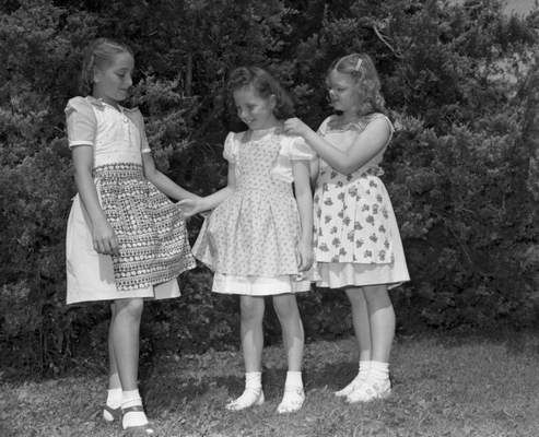 July 1948: (From left) Alice Tobey, Lucky Clover Juniors, Adams Township; Ruth Ann Gregg, Maumee Willing Workers Club; and Mary Anne Meyer, Madison Maidens. Meyer placed in the