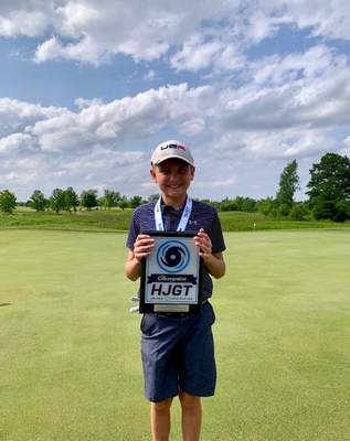 Courtesy photo  Landon Snyder won the Columbus Jr. Open in the Boys 10 and Under Division, shooting a 78 on the last day of the tournament.