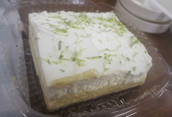 A lime square from Lindi's on Main Street.