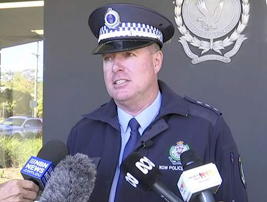 In this image made from video, New South Wales state police Acting Inspector Darren Williams speaks about child drivers during a news conference in Coffs Harbour, Australia, Monday, July 15, 2019. (Australian Broadcasting Corporation via AP)