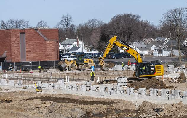FILE: Construction at the site of New Haven Intermediate School.