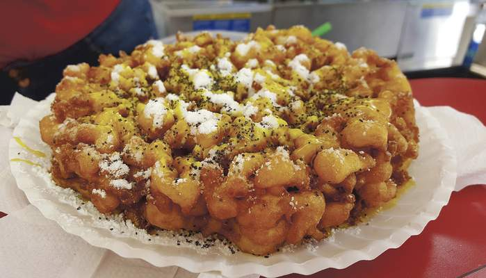 The Best Around booth offers a lemon-poppyseed funnel cake.