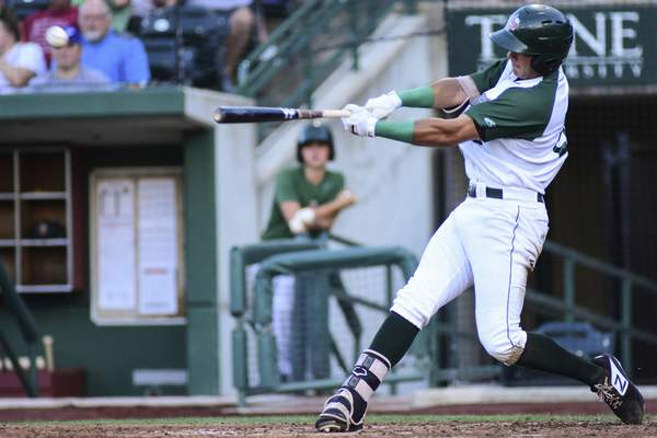 Mike Moore | The Journal Gazette TinCaps right fielder Agustin Ruiz bats in the fifth inning against Peoria at Parkview Field on Wednesday.