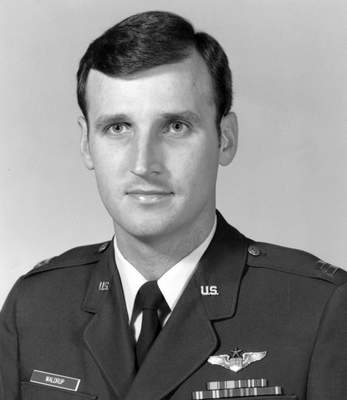 This 1983 photo provided by David Waldrup shows him in his Air Force uniform as a captain. (U.S. Air Force via AP)