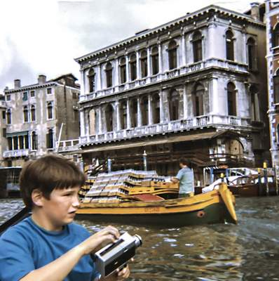 This August 1969 photo provided by Frank Schramm shows him during a family trip to Venice, Italy. (Courtesy Frank Schramm via AP)