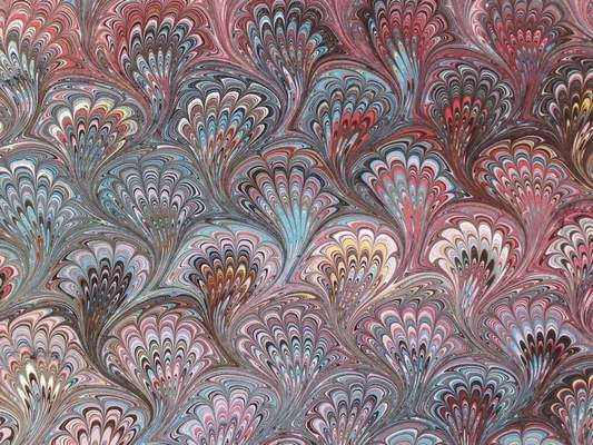 """There are more than 60 pieces in """"The Art of Marbling,"""" which showcases 30 years of Diane Schafer-King's work."""