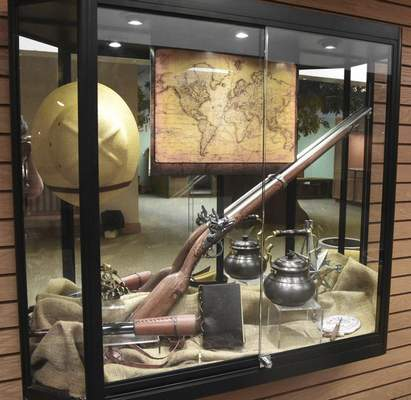 Michelle Davies   The Journal Gazette The display case in the gentleman's sitting room that is part of