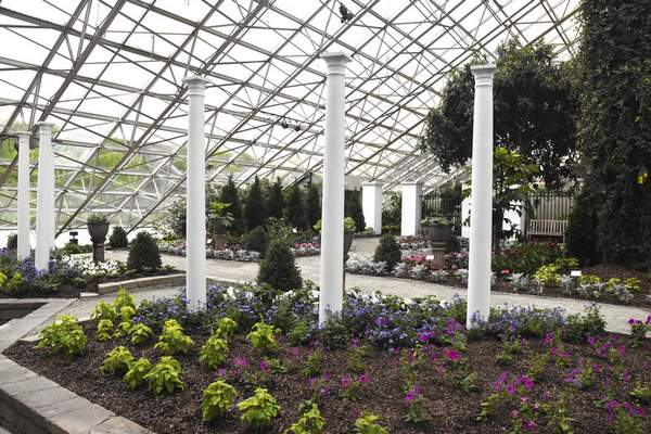 Michelle Davies   The Journal Gazette A replica of a wealthy Englishwoman's garden, showcasing plants collected by