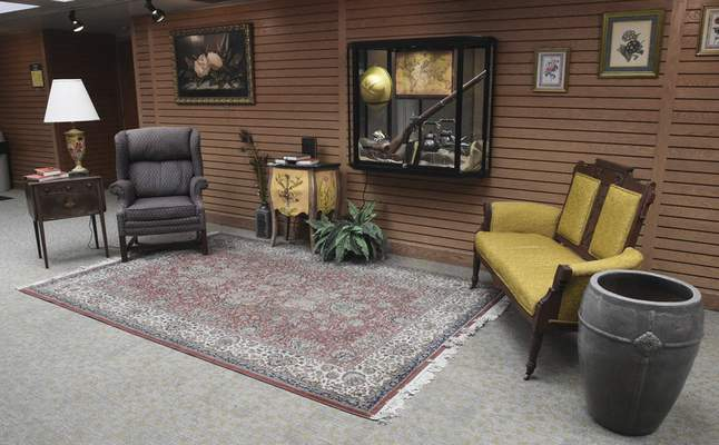 A gentleman's sitting room is part of the conservatory's new exhibit, which runs through Nov. 17.