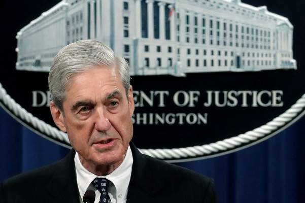In this May 29, 2019, file photo, special counsel Robert Mueller speaks at the Department of Justice Wednesday, in Washington, about the Russia investigation. (AP Photo/Carolyn Kaster, File)