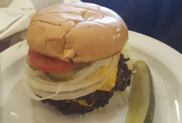 The Uncle Sam burger from Hall's Original Drive-In on Bluffton Road.