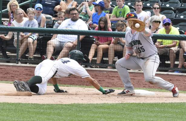 Rachel Von Stroup | The Journal Gazette  The TinCaps' Justin Lopezhad two hits in Fort Wayne's win over Cedar Rapids, including a ninth-inning single that started the game-winning rally.