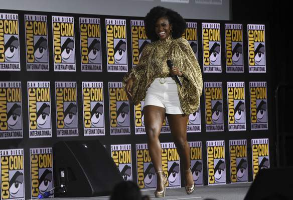 Teyonah Parris walks on stage during the