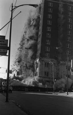 Oct. 20, 1974: The Keenan Hotel was demolished at Washington Boulevard and Harrison Street. (Journal Gazette file)