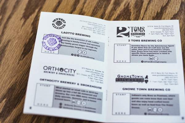 Trail participants earn stamps for each stop they make.