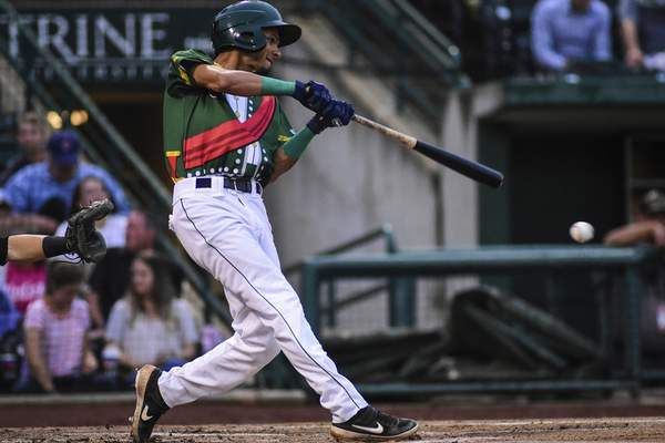 Mike Moore   The Journal Gazette  TinCaps second baseman Tucupita Marcano drove in a run in the TinCaps' 5-1 win over the Dayton Dragons on Monday.