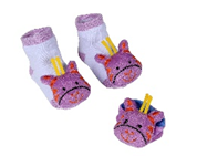 Recalled sock and wrist rattle sets.