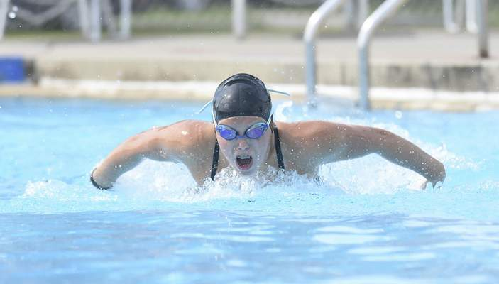 Michelle Davies | The Journal Gazette Cali Prochaska, who swims for the Blackhawk Swim Club, will swim for the U.S. at the Parpan American Games this month.