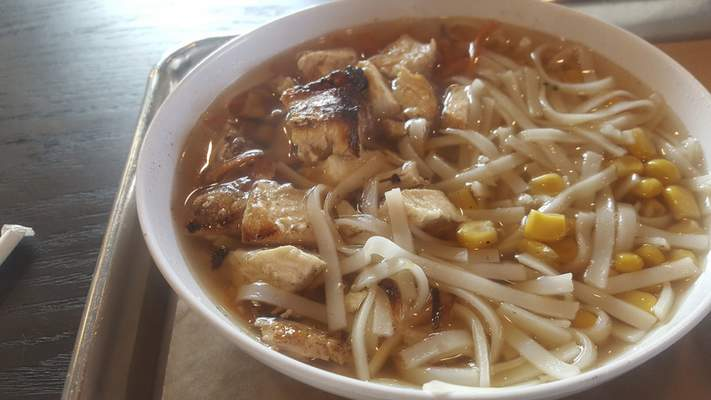 Chicken noodle soup from CoreLife Eatery on Coliseum Boulevard.