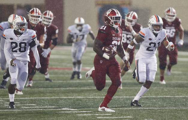 Associated Press Indiana running back Stevie Scott will face competition this season from several different players.